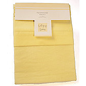 2 Lollipop Lane 100% cotton Flannelette Flat Pram Sheets Lemon 70x90cm