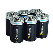 6 Pack Maplin D Battery Alkaline Extra Long-Life Lr20