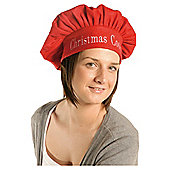 Festive Red & White Christmas Chef's Hat