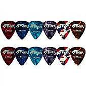 Tiger Celluloid Guitar Picks (Pack of 12)