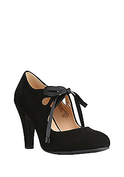 F&F Sensitive Sole Ribbon Tie Mary Jane Shoes - Black