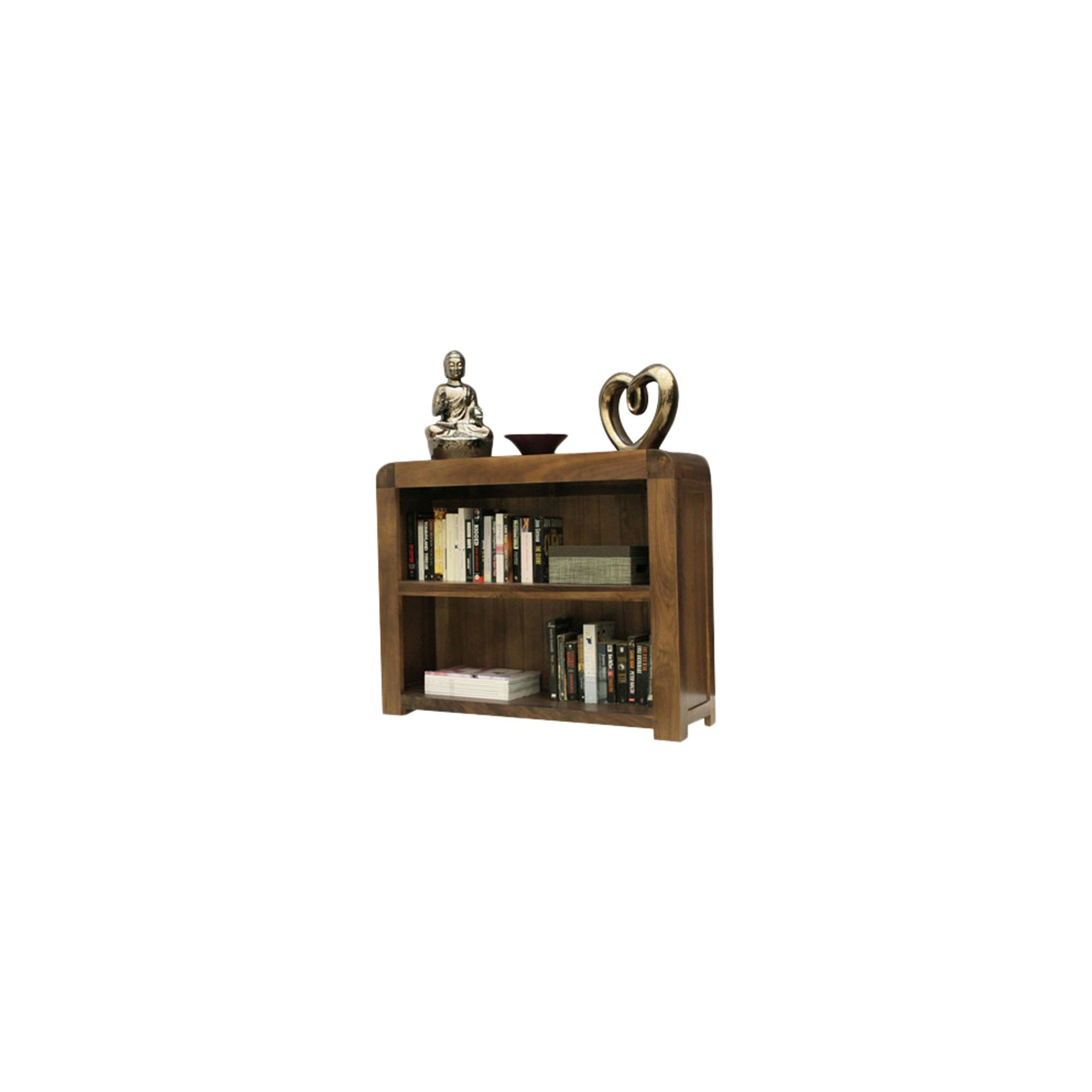 Baumhaus Shiro Low Bookcase in Walnut at Tesco Direct