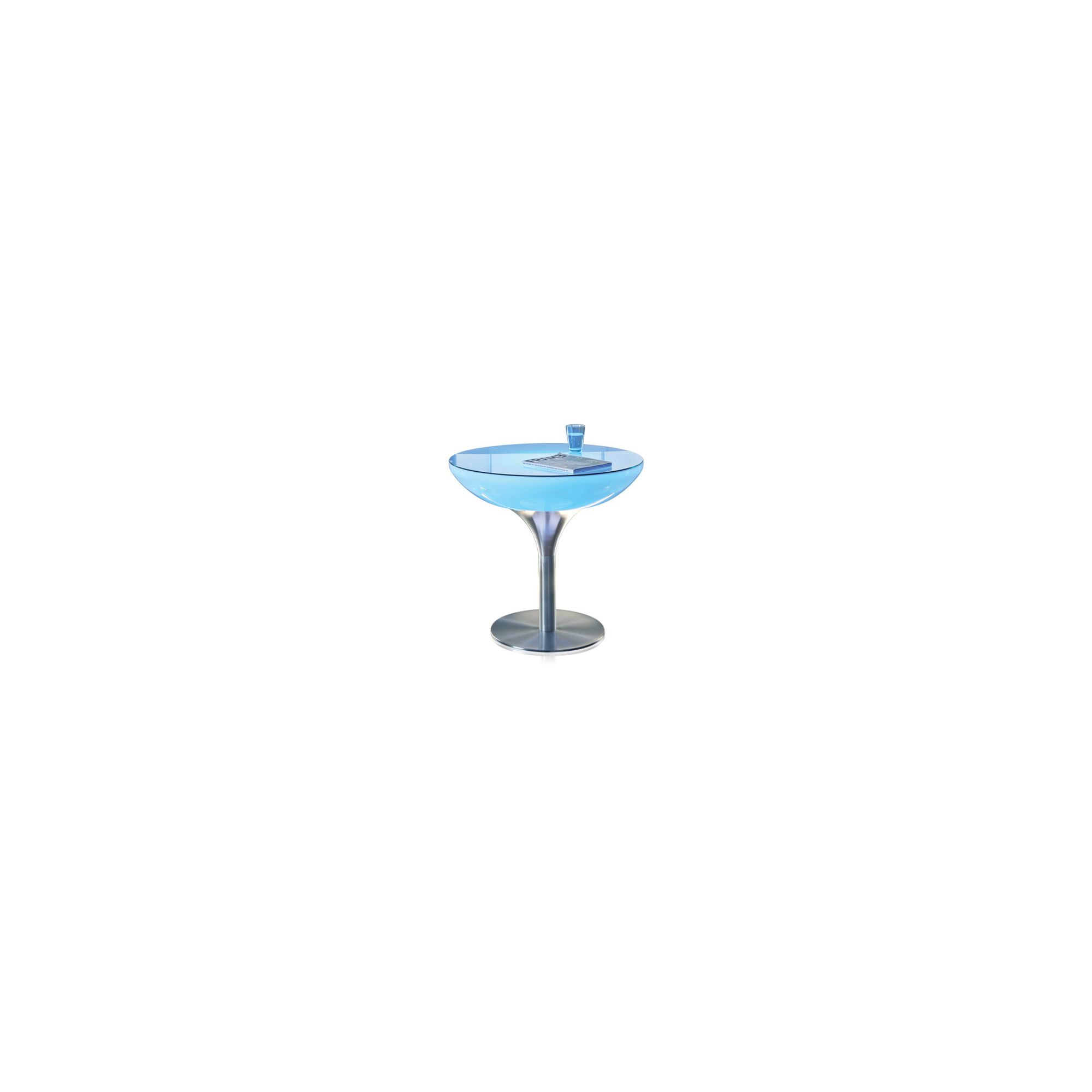 Moree Lounge Pro Table with Glass Top - 75cm at Tesco Direct