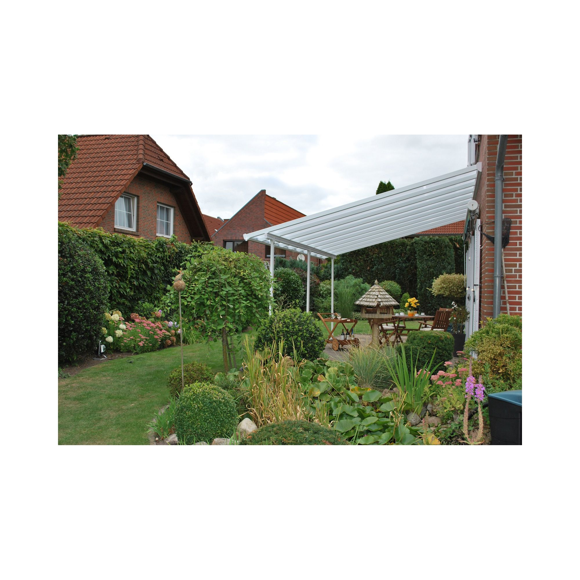 FERIA LEAN TO CARPORT AND PATIO COVER 4X6.06 WHITE at Tesco Direct