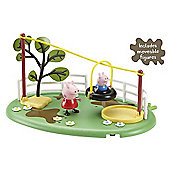 Peppa Pig Playtime Fun Playset - Zipline