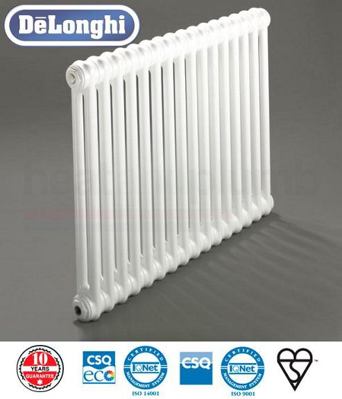 Delonghi 2 Column Radiators - 1500mm High x 394mm Wide - 8 Sections