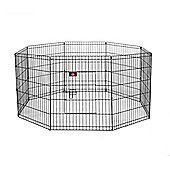 Hq Pet Metal Indoor Foldable Dog Playpen Puppy Guinea Pig Exercise Fences M