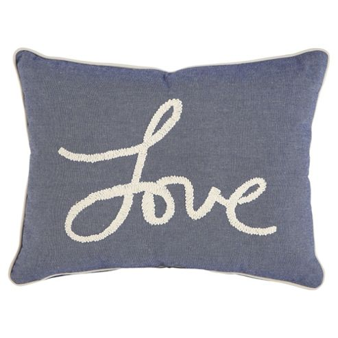 buy tesco love chambray cushion from our cushions range. Black Bedroom Furniture Sets. Home Design Ideas