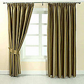 "Homescapes Gold Jacquard Curtain Modern Striped Design Fully Lined - 90"" X 90"" Drop"