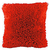 Faux Mongolian Cushion Red