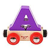 Bigjigs Rail Rail Name Letter A (Purple)