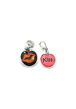 Kisses Double Sided Clip on Charm