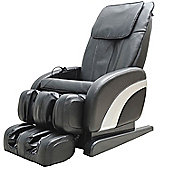 Homcom Luxury Reclining Leather Massage Chair Heat Armchair Multifunctional Full Body Black