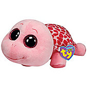 "TY Beanie Boo Buddy 10"" Plush Pink Turtle Myrtle"