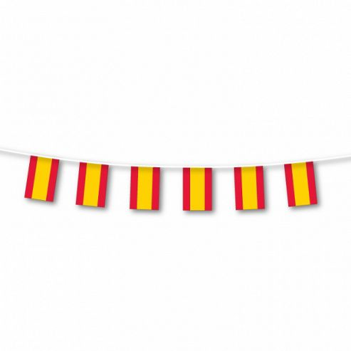 Party - Spain Small Plastic Flag Bunting - Amscan