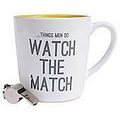 Watch The Match Mug & Whistle Set