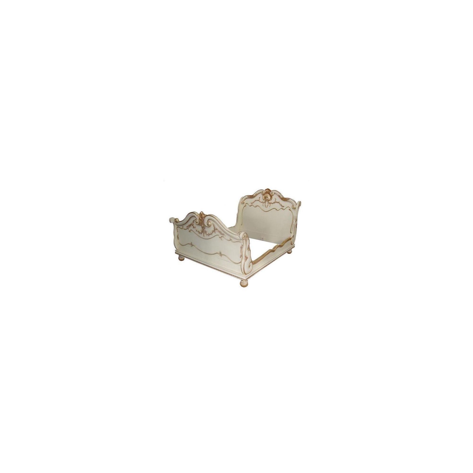 Lock stock and barrel Mahogany Shell Bed in Mahogany - Wax - Double at Tesco Direct