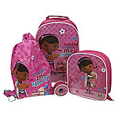 Disney Doc McStuffins 4-Piece Kids' Luggage Set