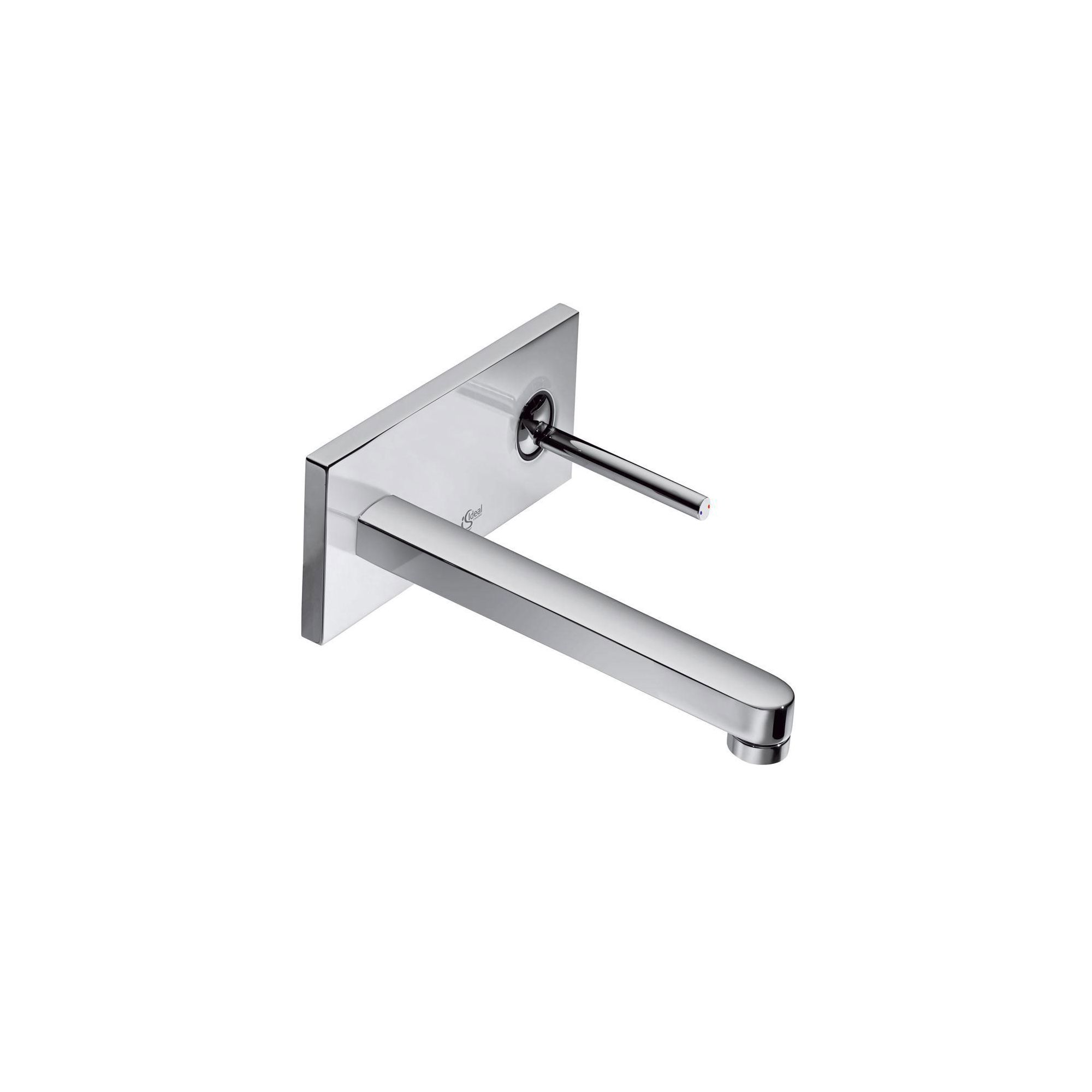 Ideal Standard Simply U 2 Tap Hole Wall-Mounted Rectangular Spout Basin Mixer Tap with Rectangular Backplate at Tesco Direct