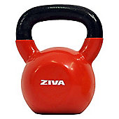 Ziva 20kg Kettlebell - Cast Iron Vinyl Coated Red