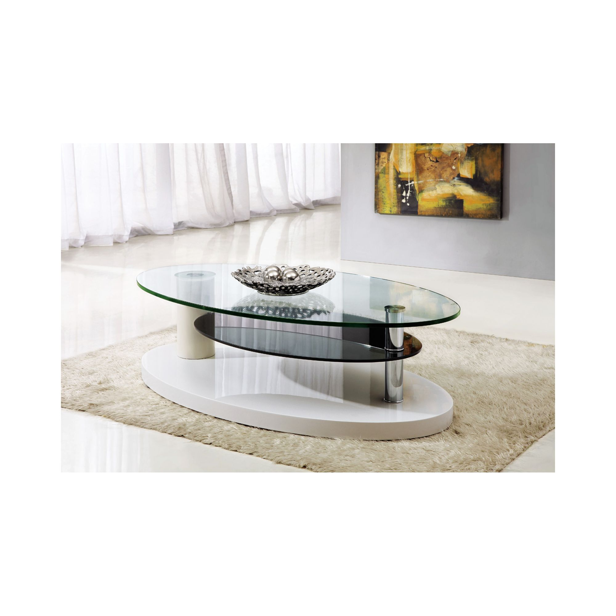 Giomani Designs Lunar Coffee Table - Shiny Beige at Tesco Direct