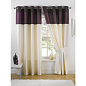 KLiving Harmony Aubergine Lined 90x54 Eyelet curtains