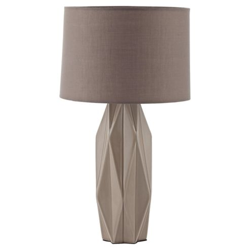 Tesco Lighting Capri Ceramic Table Lamp Taupe