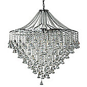 Attractive Crystal and Chrome Large Pendant Ceiling Light