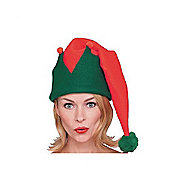 Rubie's Fancy Dress - Red and Green Long Elf Hat - Adults