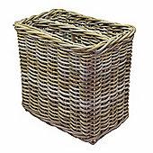 Wicker Valley Rattan Magazine Basket in Grey
