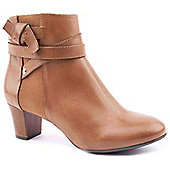 Hush Puppies Ladies Coco Imagery Tan Ankle Boots - Tan