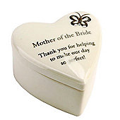 Mother of the Bride Porcelain Heart Pot