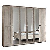 Wimex Chalet 6 Door 4 Mirror Wardrobe