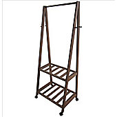 Hanging Rack With Storage Shelves