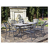 Royal Garden Carlo 6-seat Mesh Garden Dining Set