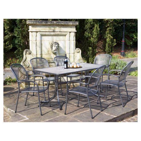 Buy Royal Garden Carlo 6 Seat Mesh Garden Dining Set From Our All Garden Furn