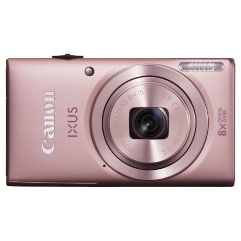 Canon Ixus 132 Digital Camera, Pink, 16MP, 8x Optical Zoom, 3.0