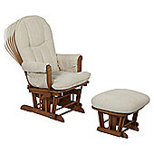 Tutti Bambini Fleur Multi Position Locking Glider Chair & Stool- Oak