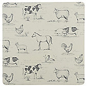 Tesco Farm Animal Placemats, 4 Pack