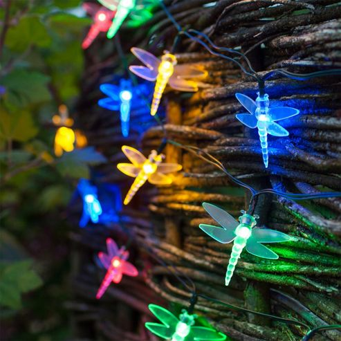 Led String Lights Tesco : Buy 30 Multi Coloured LED Dragonfly Solar Garden Fairy Lights from our Solar Lights range - Tesco