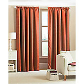 Diamond Woven Blackout Curtains - Terracotta