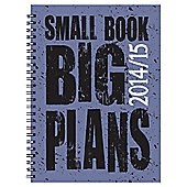 BTS Polyprop Small Book Big Plans 14/15 Diary A5 DTP
