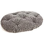 P & L Superior Pet Beds Machine Washable Oval Sherpa Fleece Pet Mattress - Brown Fleck - 2 (10 cm H x 58 cm W x 76 cm)