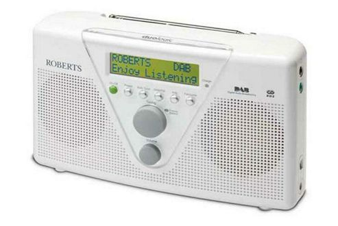 ROBERTS DUOLOGIC DAB/FM PORTABLE RADIO WITH BATTERY CHARGING (WHITE)