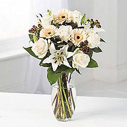 Cream Germini, Rose & Lily Bouquet