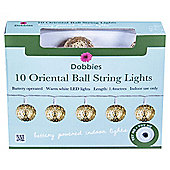 Dobbies indoor Oriental Ball String Light - 10pc