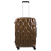 Tesco 4-Wheel Gloss Suitcase, Gold Large