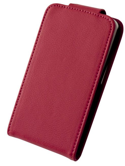 Tortoise™ Genuine Leather Flip Case HTC One X Pink