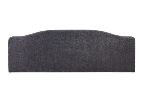 Serene Furnishings Daphne Upholstered Headboard - Charcoal - Double