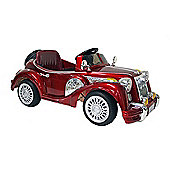 Kids Electric Car Vintage Sports Car 12 Volt Red Gloss